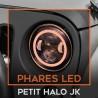 Phares led avec halo Jeep Wrangler JK