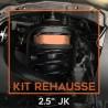 """Kit cales de rehausse 2,5"""" pour Jeep Wrangler JK"""